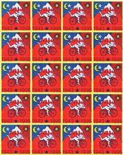 ALBERT HOFMANN 20 PANNELLO ROSSO BICI CORSA-alta qualità blotter ART - 500 quadrati