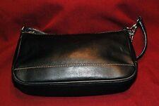 COACH Black Leather Wristlet Clutch Evening Bag Handbag