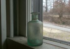 1840s DUG OPEN PONTIL FLARED LIP INK OR MEDICINE BOTTLE CRUDE WHITTLED