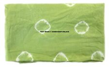 Green Shibori Tie Dye Cotton Fabric By Yard Indian Natural Sanganeri Fabric Art