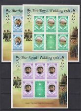 1981 Royal Wedding Charles & Diana MNH Stamp Sheetlets Turks & Caicos