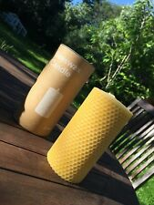 Handmade 100% Irish Beeswax Candle 13 x 7cm Purifies The Air Removes Pollutants