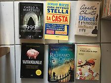lotto 6 libri narrativa vera occasione christie galbraith