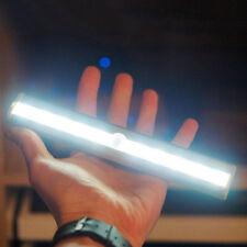 10 LED Bright PIR Motion Sensor Night Light Cabinet Wardrobe Drawer Bulb Lamp