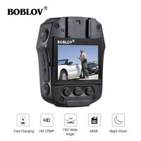 64GB 1296P Police Body Worn Camera Security Guard Camcorder Recorder Night Visio