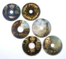 6 DVD Set LOTR Fellowship of Ring Two Towers Return of the King (discs only)