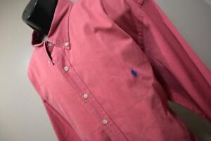 Polo Ralph Lauren Dress Shirt Classic Long Sleeve Red Mens Size 3XB 3XL Big
