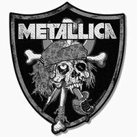 Metallica Raiders Skull Patch Official New