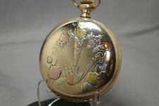 1903 Multi-Color Hunter Case, Fancy Color Dial Elgin 7J 16s All Orig.& Nice Runs
