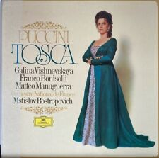 PUCCINI: TOSCA ~ VISHNEVSKAYA / ROSTROPOVICH <DG2707087 2-LP ST GER'76>  *NM*