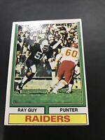 1974 Topps Ray Guy Rookie Card #219 HOF SMTTT RAIDERS Southern Miss