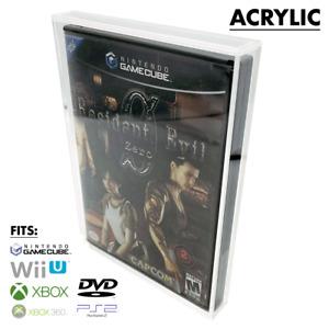 UV RESISTANT Nintendo GameCube DVD XBOX Wii PS2 Video Game Box Hard Acrylic Case