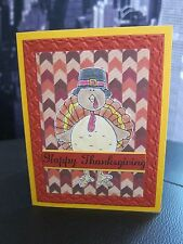 "Stampin Up ""HAPPY THANKSGIVING"" Funny Turkey Handmade Card"