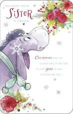 Eeyore for a Really Special Sister Christmas Card Winnie The Pooh Disney
