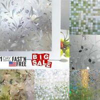 US Stained Glass Window Film Static Cling Privacy Window Film for Home Office