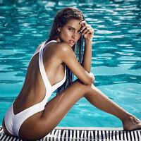 Women Bandage One Piece Bikini Monokini Push Up Padded Bra Swimwear Swimsuit UK