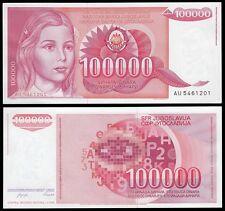Yugoslavia 100,000 (100000) Dinara, 1989, P-97, UNC