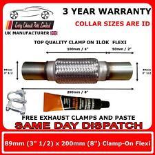 """Escape Enganchables Flexi empalme de tubo tubo flexible de reparación 89 X 200mm de 3.5 """"x 8 pulgadas pulgadas"""