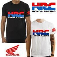 T-Shirt Honda HRC Moto maglietta 100% cotone nera bianca