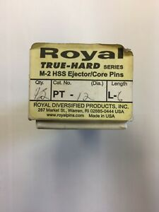 Royal PT-12- L6 TRUE-HARD SERIES, M-2 HSS, THROUGH-HARDENED to 60-63 RC BOX OF 9