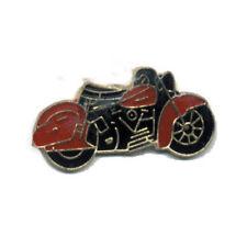 Wholesale Lot of Motorcycle Black Red Bike Lapel Hat Cap Pins USA SHIPPER