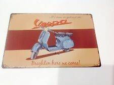 VESPA PIAGGIO MODS BRIGHTON MOPEDS Metal Poster Garage-wall Art  Sign Tin Plaque