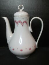Graf Von Henneberg JL Menau Pink Roses Ribbed Coffee Pot Tea Pot Germany