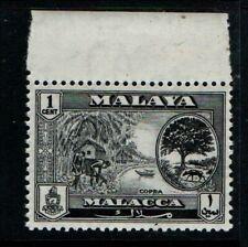 Malaya Malacca 1960 1c black Copra SG50 MNH