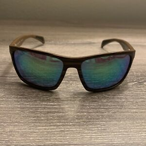 Maui Jim Sunglasses Makoa MJ804-25W Brown Stripe Polarized Mirror Custom Green