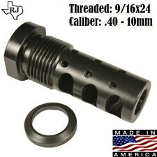 9/16x24 Muzzle Brake 40/10mm cal Multi Function EXTERNAL THREAD ADAPTER 13/16-16