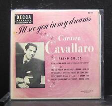 "Carmen Cavallaro - I'll See You In My Dreams EP VG+ 7"" 1953 ED 584 Decca USA"