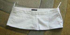 """7 1/2"""" Length White  Cotton  Micro Mini Skirt Plus Size 18 - 20"""