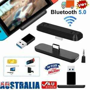 Bluetooth 5.0 Adapters HIFI Audio Tranceiver 5mm For Nintendo Switch/Lite PS4 PC