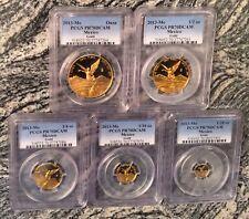 2013 Mexico 5-Coin Gold Libertad Proof Set PCGS PF-70(1.9oz)(300 Sets) Very Rare