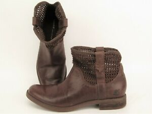 Timberland Savin Hill Brown Ankle Boot Leather Weave Womens Size 7