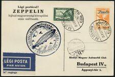 Zeppelin Ungarn 1931 Ungarnfahrt Budapest MiF 478 Postkarte Si 102 Aa I / 492