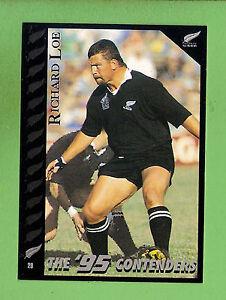 1995 NEW ZEALAND  ALL BLACKS RUGBY UNION CARD  #20  RICHARD  LOE