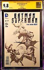BATMAN SUPERMAN #4 CGC SS 9.8 JAE LEE 1:100 VARIANT JOKER CATWOMAN HARLEY QUINN