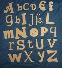 wooden alphabet letter,s  FULL ALPHABET, playroom, play school, gift