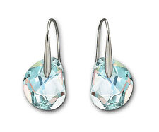 Swarovski Crystal GALET LIGHT AZORE Pierced Earrings 949740