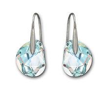 Swarovski Crystal GALET LIGHT AZORE Pierced Earrings 949740