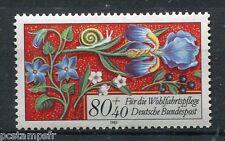 ALLEMAGNE FEDERALE, 1985, timbre 1093, FLEURS et COLIMACON, neuf**