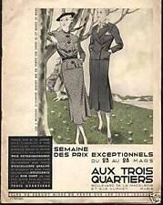 """CATALOGUE """" AUX TROIS QUARTIERS """" 1908"""