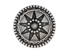 6 Starlight 11/16 inch ( 18 mm ) Metal Shank Buttons Silver Color
