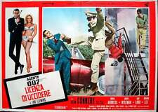 DR. NO JAMES BOND Italian fotobusta photobusta movie poster red R71 #3 CONNERY