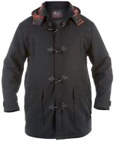 Duke of London Men's Black Duffle Coat,