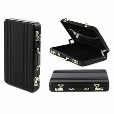RFID Metal Case Suitcase Change Cash Money ID Name Credit Business Card Holder