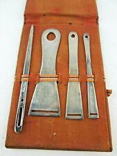 Antique Sterling Silver Sewing Bodkins Set of 4 in Original Case