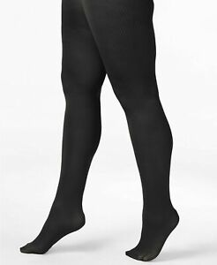 Berkshire Black Plus Size Easy On! Women's Textured Tights Size 1X/2X