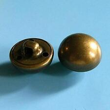 15 Brass Metal Plate Dome Shank Half Ball Cap Military Clothing Button 15mm G115